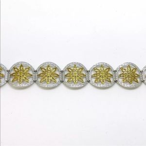 Jewelry - 14k White And Yellow Gold  On 925 Silver Bracelet